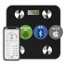 Bathroom Weighing Scales Smart Bluetooth Android & Apple Compatible Black Scale