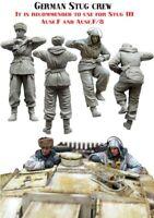 2 x Figures WW2 German Stug Crew Soldiers Unpainted Unassembled Resin Kit 1/35