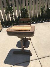 Vintage Children's School Desk Wooden/Metal