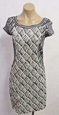 GOD SAVE THE QUEEN Black & White Stretch Dress w/ Cap Sleeve -Small -NWT $435.00
