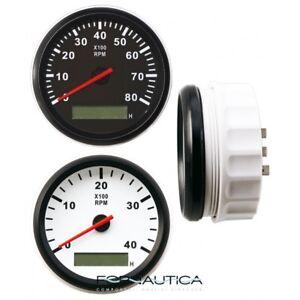 CONTAGIRI ELETTRONICO UNIVERSALE 12V CON CONTAORE PER MOTORI DIESEL 0-4000 RPM
