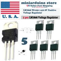 5pcs 7808 L7808 L7808CV LM7808 8V Voltage Regulator Positive TO-220 1.5A