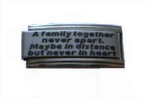 9mm Italian Charms Superlink L91 A Family together Never apart Fits Classic Size
