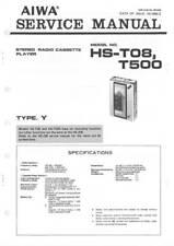 AIWA WALKMAN - HS T08 - HS T500 - SERVICE MANUAL IN COLOR VERSION - REPAIR -