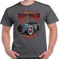 Mens Hotrod 58 T Shirt  Rat Rod Trap V8 Garage American Classic Vintage Car 114
