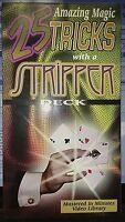 25 Amazing Magic Tricks with a Stripper Deck VHS Video Tape