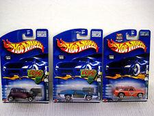 NOS 2001 Lot of 3 Hot Wheels redlines (2 Carrera & Ganador) -ford vicky-side