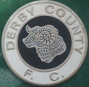 Rare England Derby County FC Football Club Plastic Large Plaque Badge