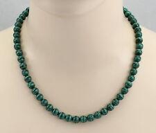 Malachit-Kette grüne Malachit Kugelkette in 50 cm Länge