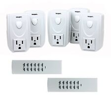 T2R5-WHT Wireless AC Power Wall Outlet Socket Remote Control ON OFF Switches NEW