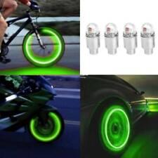 4pcs Green LED Car Wheel Tyre Tire Air Valve Stem Cap LED Lamp Light Accessories