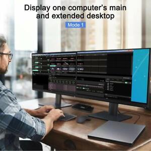 TESmart DisplayPort + HDMI 4x2 Dual Monitor KVM Switch for 2 PCs + 2 Monitors 2