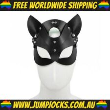 Leather Cat Mask - Fetish, Bondage, Gay, Sex *FREE WORLDWIDE SHIPPING*