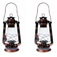 2 - Hurricane Kerosene Oil Lantern Emergency Hanging Light Lamp Brass 12 Inches
