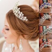 New Bridal Crown Crystal Wedding Tiaras Brides Hair Accessories Princess Jewelry