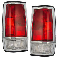 Set of Taillights with Chrome Trim for 85-86 Nissan 720 Pickup Truck