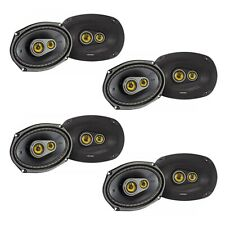 Kicker CS Series 150 Watt 6 x 9 Inch Car Audio Coaxial Speaker, Yellow (8 Pack)