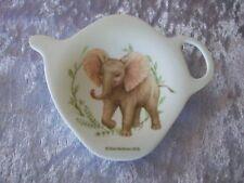 ASHDENE TEA BAG HOLDER/TEASPOON REST - ELEPHANT - WILD BABY ANIMALS COLLECTION