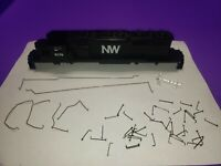 AS IS CASING RAILINGS NORTH WESTERN HO SCALE ATHEARN SD40-2 LOCOMOTIVE KIT