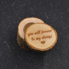 Wooden Wedding Ring Box Engagement Ring Jewelry Holder Wood Craft Handmade