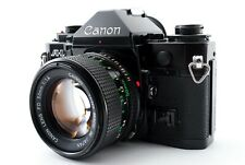 Mint 🌟 Canon A-1 35mm Black Film Camera + New FD NFD 50mm F/1.4 Lens from Japan