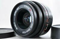 Near mint Konica M Hexanon 28mm f2.8 For Leica M w/ Caps From Japan F/S #3215
