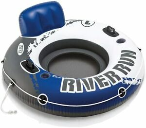 Intex River Run I Outdoor Inflatable Water Tube Lounge Float