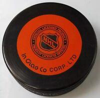 NY ISLANDERS ISLES VINTAGE 90s INGLASCO NHL SLOVAKIA OFFICIAL VEGUM HOCKEY PUCK