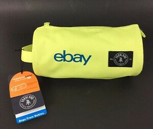 eBay Branded Pencil Case Pouch Large Neon Yellow Zip Recycled Polyester Parkland