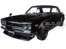 NISSAN SKYLINE GT-R (KPGC10) TUNED VERSION BLACK 1/18 DIECAST CAR AUTOART 77443