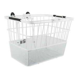 Sunlite Wire Steel Mesh Front Bicycle Basket White Cycling Carrier Detachable
