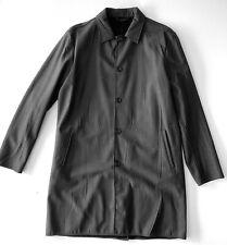"prada sport GREY fake fur lined ""creased"" CAR COAT it56 XXL USED $1850"