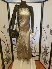 ZARA METALLIC LONG DRESS Silver 8317/420 Size M