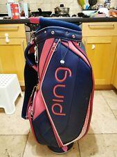 Ladies PING Lightweight Golf Trolley Bag Ladies / 4-Way / Rainhood / Excellent
