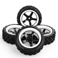 4pcs 1:10 Rally Tires Wheel 12mm Hex For HSP HPI 1/10 off Road Racing Car Tyres