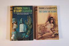 Lot (2) FRANK G. SLAUGHTER Paperbacks: Curse of Jezebel (1st); A Touch of Glory