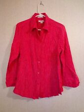 Women's Christopher & Banks Red Top/Blouse/Shirt - Size Large