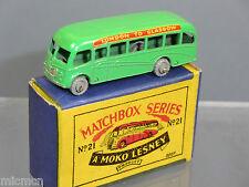 M/BOX MOKO LESNEY No.21a BEDFORD COACH   (57mm)   VN MIB