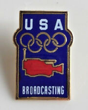 USA Olympic Broadcasting Pin With Camera And Olympic Rings