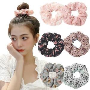 Sweet Floral Ponytail Hair Rope Ties Elastic  Scrunchies Hair Ring for Girl
