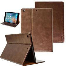 Luxus Schutzhülle für Apple iPad Air 1 Tablet Leder Tasche Cover Case Etui braun