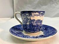 Vintage Demitress Old English Staffordehireware Teacup and Saucer