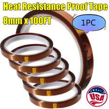 Usa 8mmx100ft 3d Sublimation Kapton Tape Heat Transfer Resistance Proof Tape