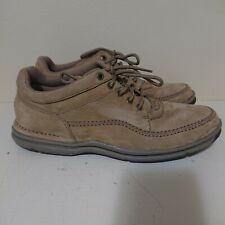 Rockport Walking Shoe Tan Leather WWT13M Size 10 Brown Comfortable