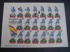 RECORTABLE. REAL CUERPO DE ALABARDEROS (ESPAÑA). EDITORIAL BRUGUERA 1961
