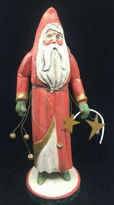 "Santa Claus Figurine House of Hatten 1988 Vintage Christmas 15"" Tall RARE Missin"