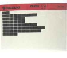 Suzuki PE250 1980 1981 Parts Microfiche s236