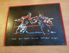 LEROY NEIMAN  POSTERBOARD BOXING FINALLY! TYSON HOLYFIELD 1996 MGM LAS VEGAS