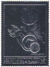 FUJEIRA SILVER spazio/Apollo 13/luna/razzi/trasporto 1v S/A (b8520)