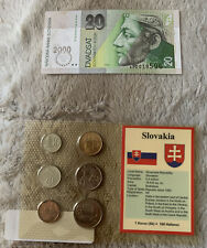 Slovakia 6 Coin And Note Set